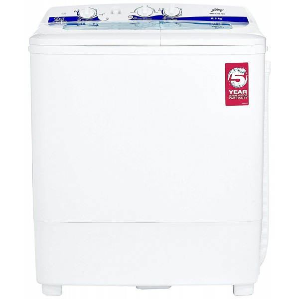Godrej 6.2 kg Semi-Automatic Top Loading Washing Machine (GWS 6203 PPD, White and Blue)