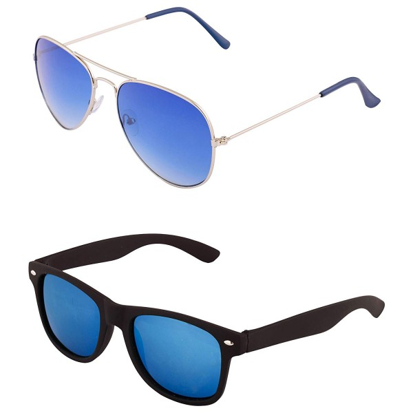 ADDON EYE WEAR Metal and Composite Combo set of 2(Blue Lens, 50)