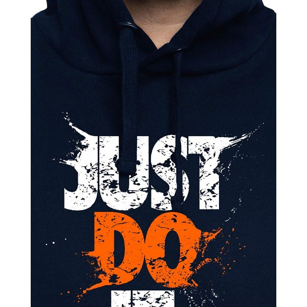 ADRO Men's Just Do It Printed Cotton Hoodies