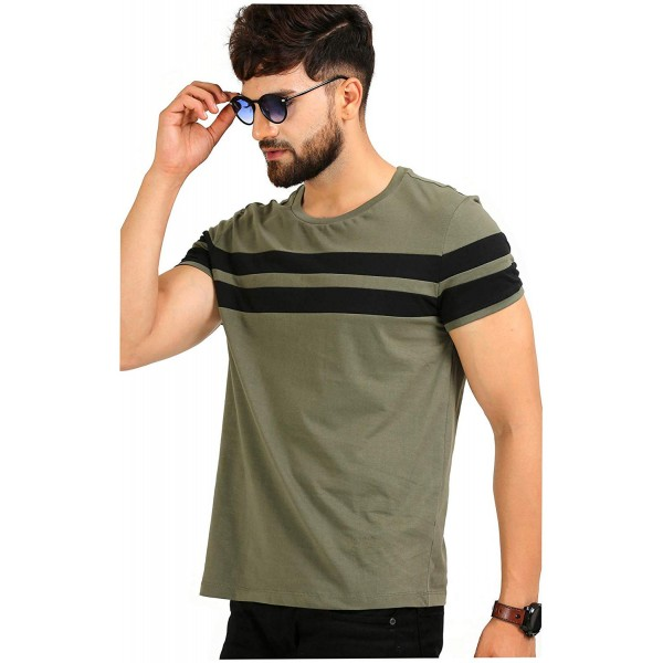 AELO Men's Cotton T Shirt-(CM1020-Pn)