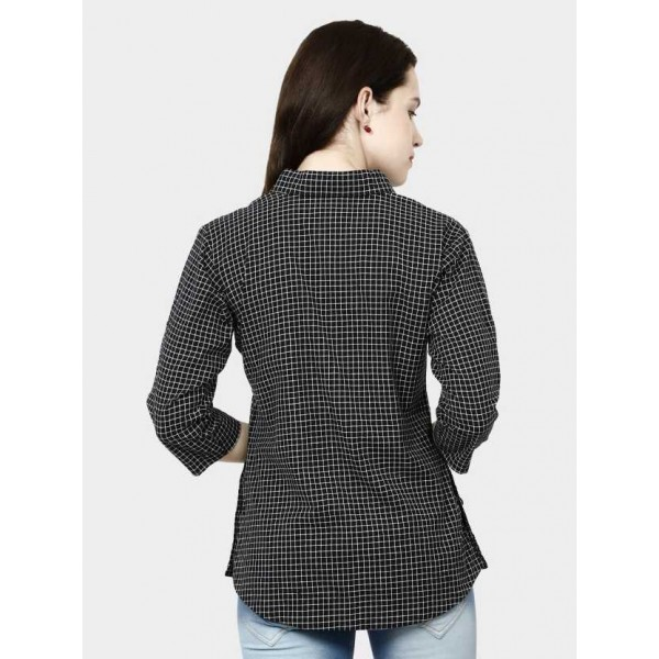 AVDHUT Women Checkered Formal Wingtip Shirt