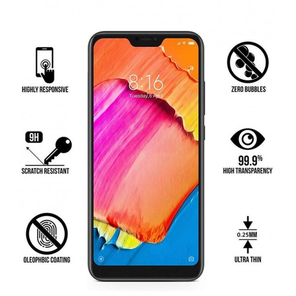 ANTI-SCRATCH AND FINGERPRINT TEMPERED GLASS SCREEN PROTECTOR FOR MI 6 PRO (BLACK)