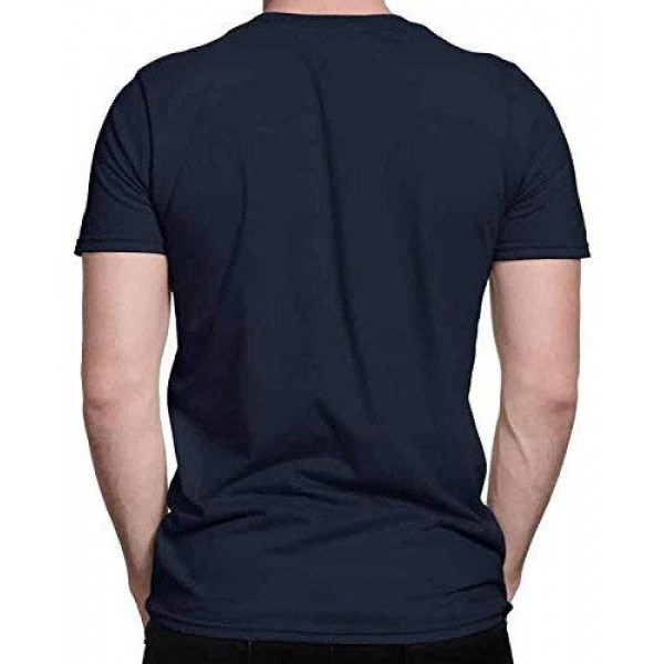 Avengers Logo Printed Navy Blue Cotton Round Neck Half Sleeve Tshirts for Men
