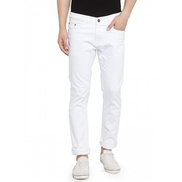 Ben Martin Men's Regular Fit Denim Jeans_White