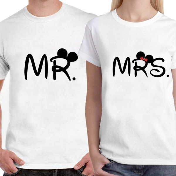 Dream Bag Limit Fashion Store - MR. MRS. Unisex Couple T- Shirt