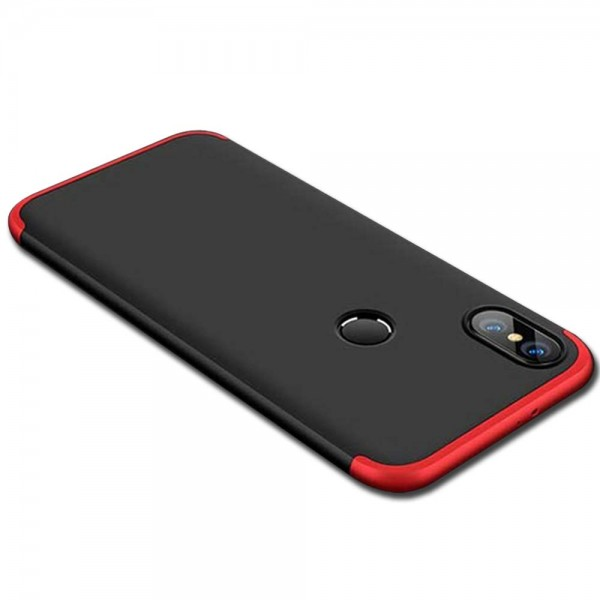 Protection Hard Bumper Back Case Cover for Redmi Note 6 Pro (Red Black)