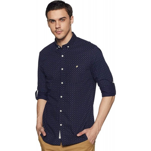 House & Shields Men's Printed Slim fit Casual Shirt