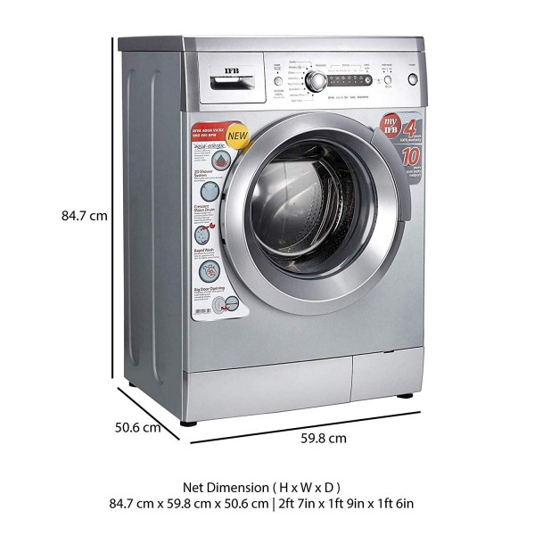 IFB 6 kg Fully-Automatic Front Loading Washing Machine ( Color Silver)