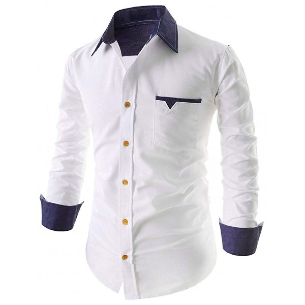 IndoPrimo Men's Cotton Casual Full Sleeves Shirts