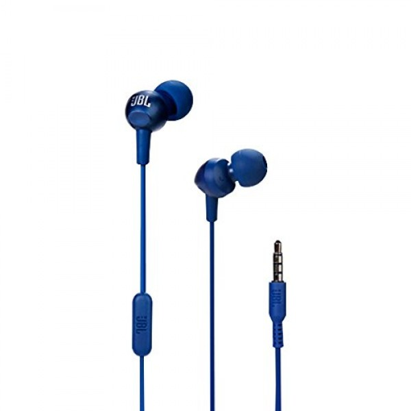 JBL C200SI in-Ear Headphones with Mic (Color Blue)