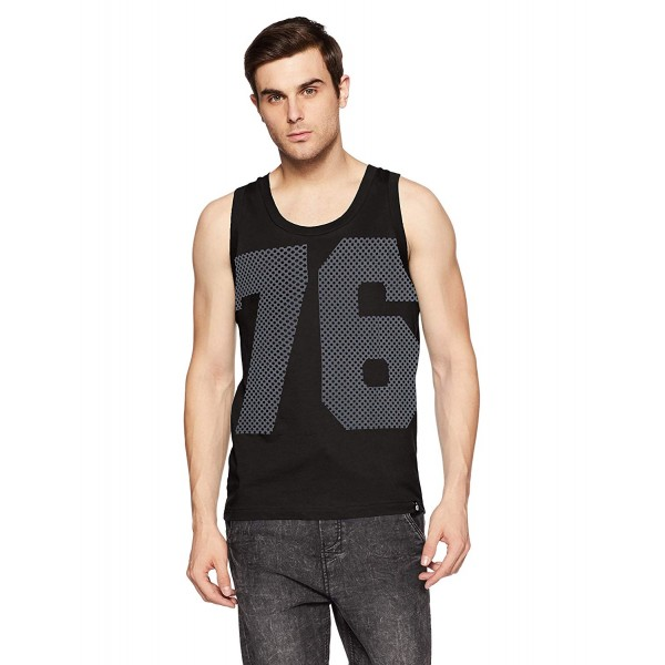 Jockey Men's Cotton Tank Top(CM black )