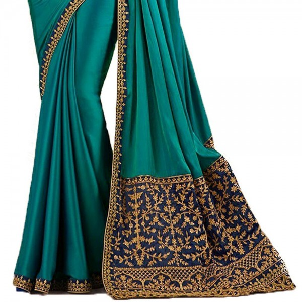 Macube Georgette Saree With Blouse Piece (Free Size )