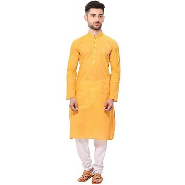 Mahadev Enterprises Men's Cotton Traditional plain Kurta