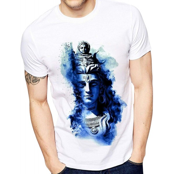 Men's Polyester Printed Neele Shivji T-Shirts for Men