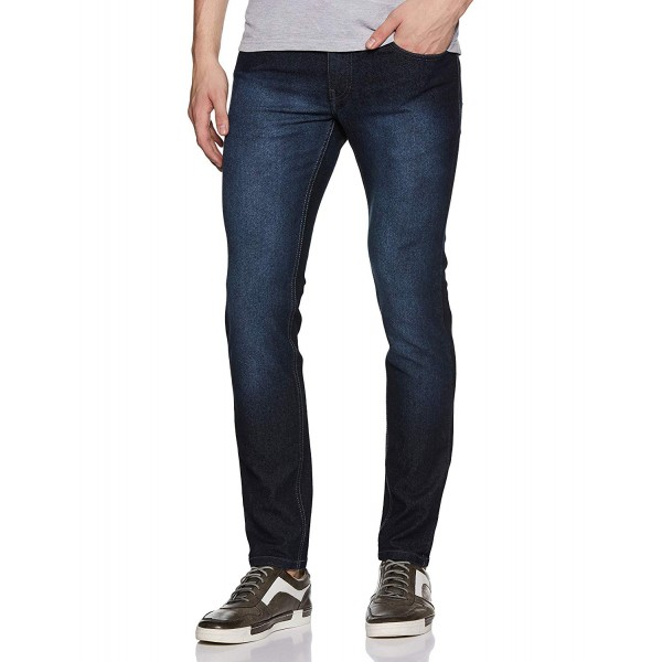 Newport University Men's Slim Fit Jeans_Navy Blue