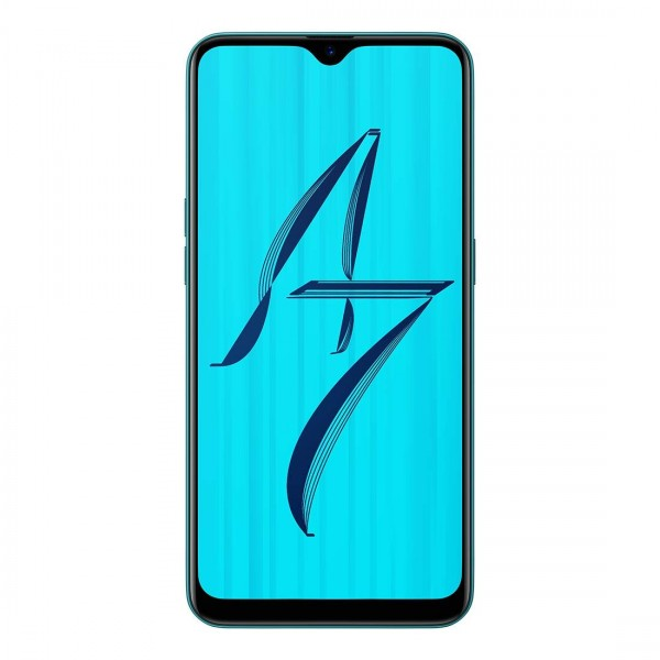 OPPO A7 (Glaze Blue, 3GB RAM, 64GB Storage)