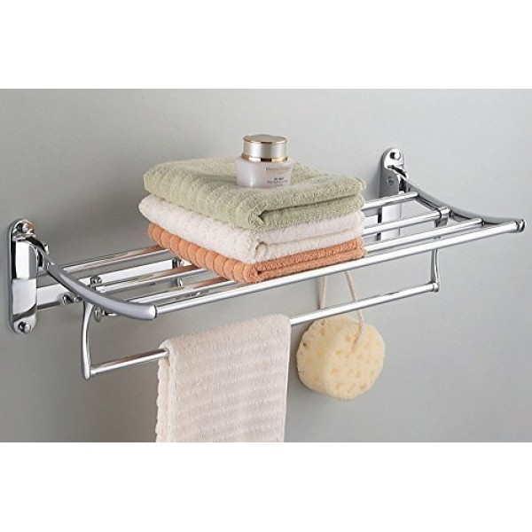 Planet High Grade Stainless Steel Folding Towel Rack(24 inch)