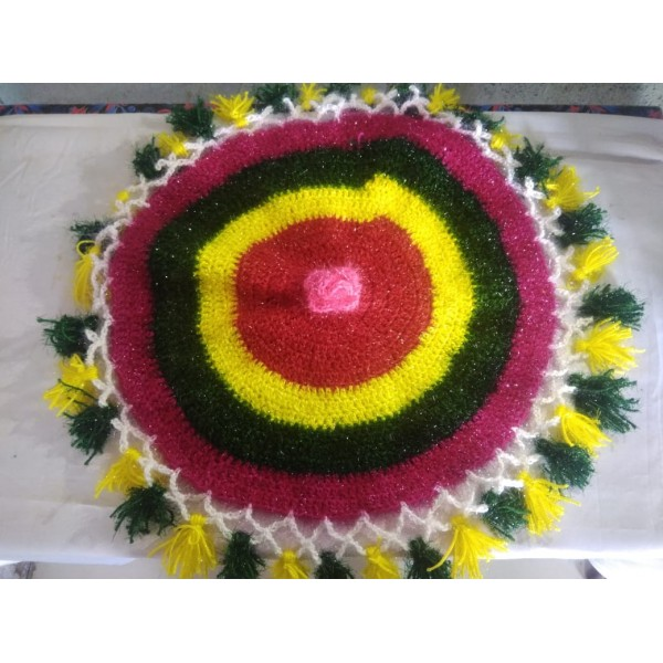 Aarya Collection Latur Plate Shape Cover Woolen Handmade