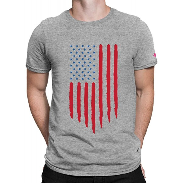 PrintOctopus Graphic Printed US Flag T-Shirt for Men