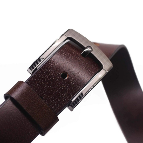 Raza Mens Leather Belt (Black, Tan)