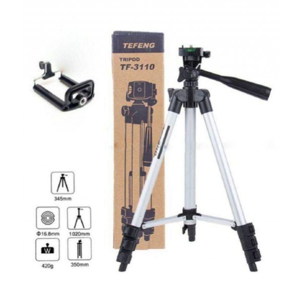 Tefeng TF 3110 3-Dimensional Head Foldable Camera Tripod Stand for Tik Tok Video