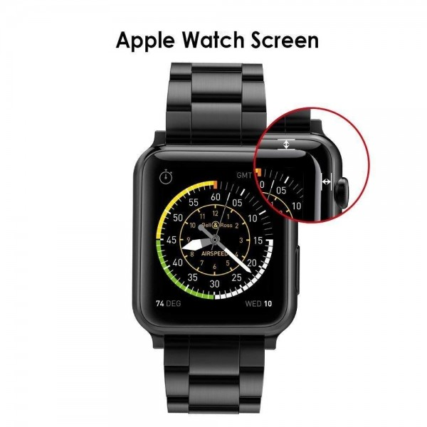 Tempered Glass Screen Protector Compatible For iWatch Series 3/2/1