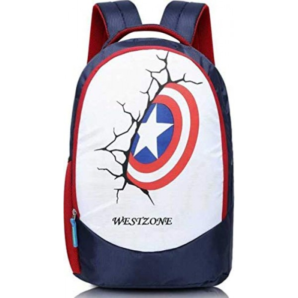 The Westzone 16 inch Laptop Backpack  (Color Blue & White)