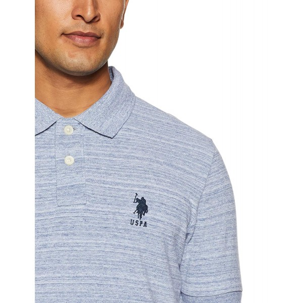 US Polo Association Men's Solid Regular Fit Polo T- Shirt_White