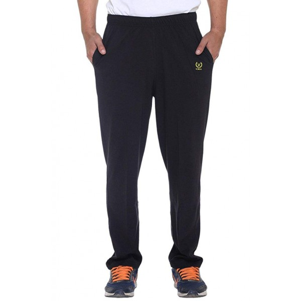 VIMAL Jonney Men's Black Cotton Trackpants-D10BLACK-P