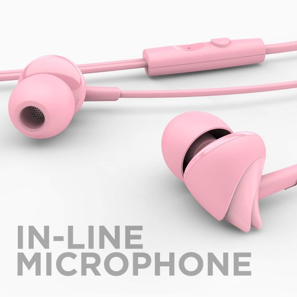 boAt BassHeads 100 Hawk Inspired Earphones with Mic(Pink)